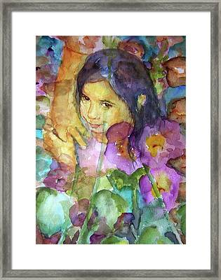 Framed Print featuring the painting All The Pretty Flowers by P Maure Bausch