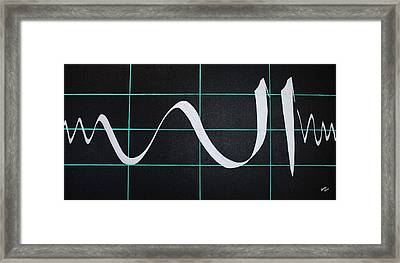 Divine Name In Cardiograph Framed Print