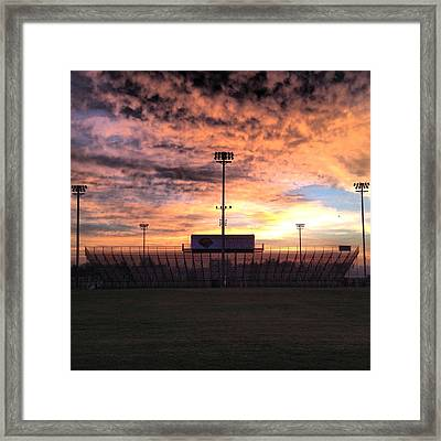 Alma High School Don Miller Field Sunrise Bleachers Framed Print