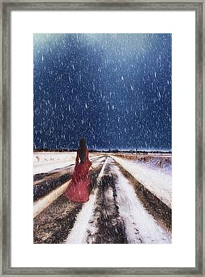Alone In The Cold Framed Print by Darren Fisher
