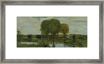 Along The Erie Canal Framed Print