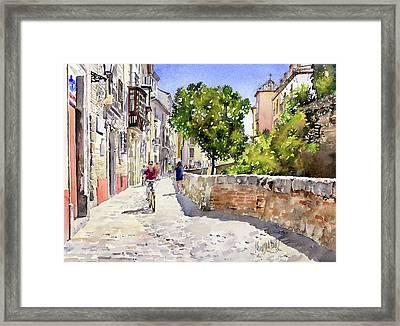 Alongside The River Darro Granada Framed Print by Margaret Merry
