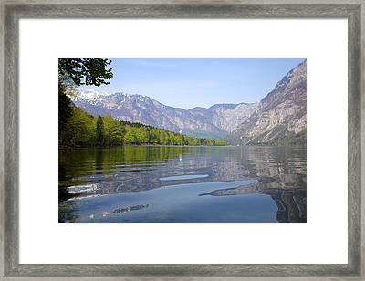 Framed Print featuring the photograph Alpine Clarity by Ian Middleton