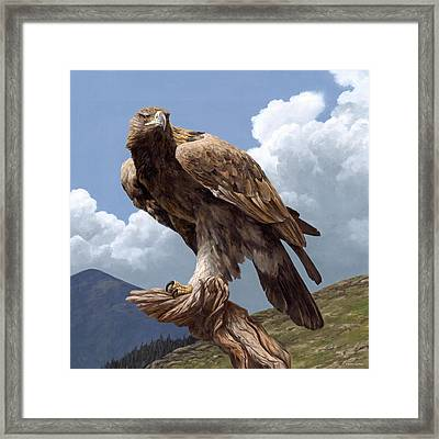 Alpine Hunter Framed Print