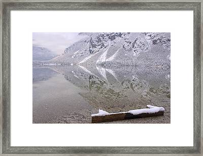 Framed Print featuring the photograph Alpine Winter Reflections by Ian Middleton
