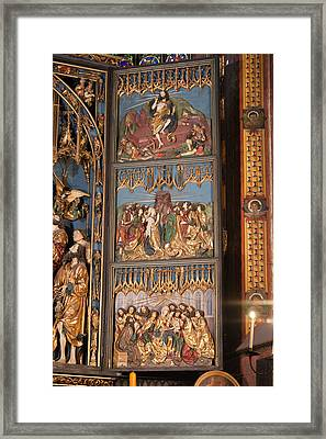 Altarpiece By Wit Stwosz In St. Mary's Basilica Framed Print by Artur Bogacki