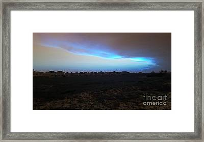 Alternate Sunset Blue Framed Print
