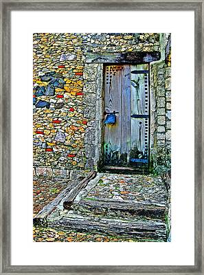 Altos De Chavon Texture. Framed Print by Andy Za