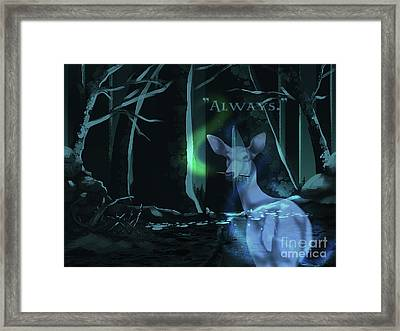 Always - With Text Framed Print
