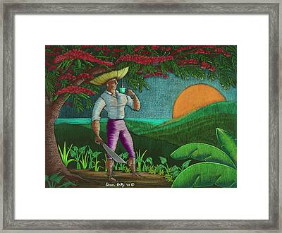 Amanecer En Borinquen Framed Print by Oscar Ortiz