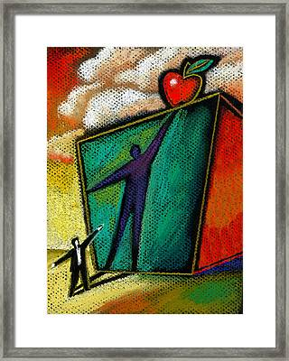 Ambition Framed Print by Leon Zernitsky