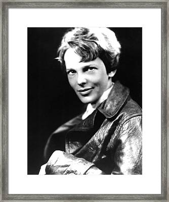 Amelia Earhart, Portrait Framed Print by Everett
