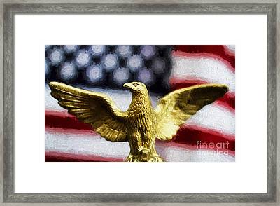 America Framed Print by Darren Fisher