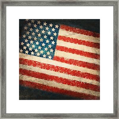 America Flag Framed Print by Setsiri Silapasuwanchai
