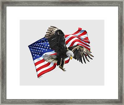 America Framed Print by Owen Bell