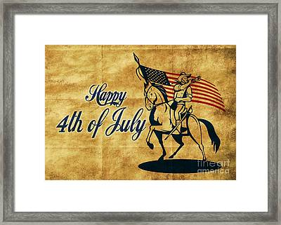 American Cavalry Soldier Framed Print by Aloysius Patrimonio