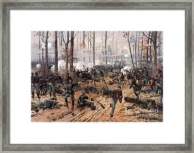 American Civil War, Battle Of Shiloh Framed Print by Science Source