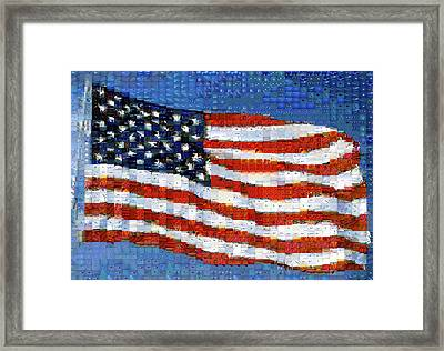 American Flag Framed Print by Panoramic Images