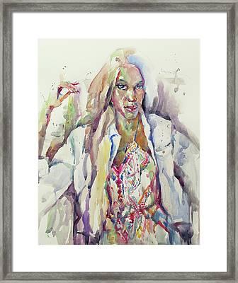 Amethyst Framed Print by Becky Kim