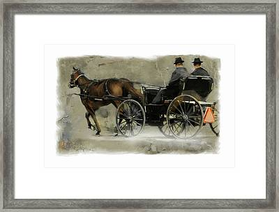 Amish Country Framed Print by Bob Salo