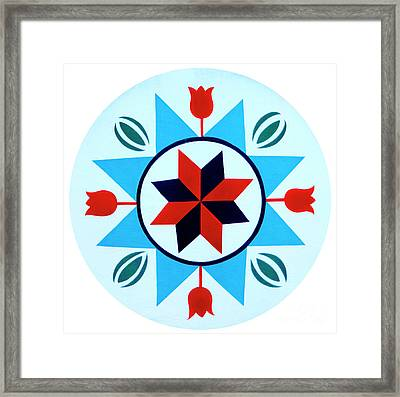 Framed Print featuring the photograph Amish Hex Design by Paul W Faust - Impressions of Light