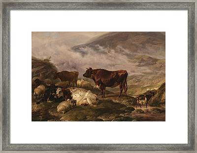 Among The Cumberland Mountains Framed Print