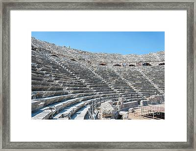 Amphitheatre In Side Framed Print by Antony McAulay
