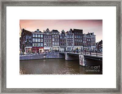 Amsterdam At Sunset Framed Print
