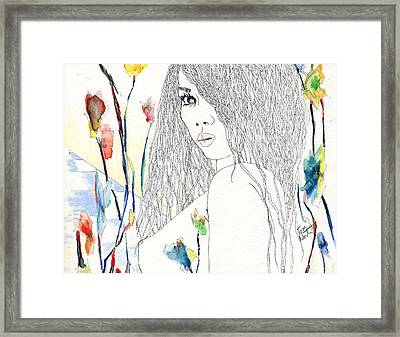 amy Framed Print by Tom Norton