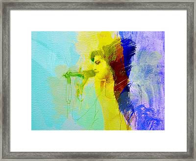 Amy Winehouse Framed Print by Naxart Studio
