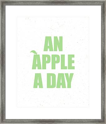 An Apple A Day Framed Print by Samuel Whitton