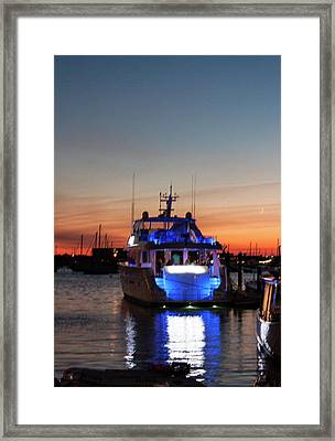 Framed Print featuring the photograph An Evening In Newport Rhode Island by Suzanne Gaff