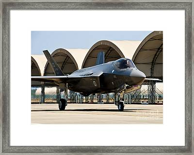 An F-35 Lightning II Taxiing At Eglin Framed Print by Stocktrek Images