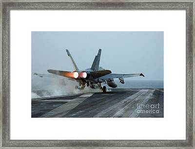 An Fa-18 Hornet Launches Framed Print by Stocktrek Images