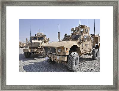 An M-atv Mine Resistant Ambush Framed Print by Stocktrek Images