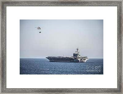 An Mh-60s Sea Hawk Helicopter Framed Print by Celestial Images