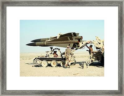 An Mim-23b Hawk Surface-to-air Missile Framed Print by Stocktrek Images