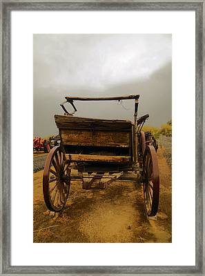 An Old Wagon Framed Print by Jeff Swan
