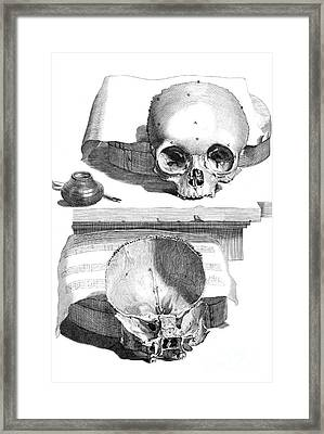 Anatomia Humani Corporis, Table 89, 1690 Framed Print by Science Source