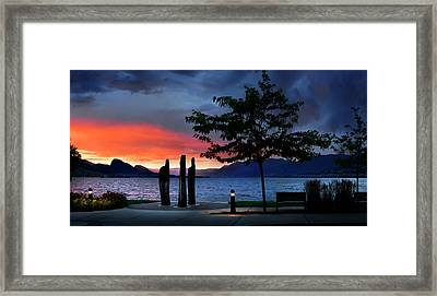 Framed Print featuring the photograph A Sunset Story by John Poon