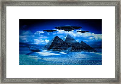 Ancient Aliens By Raphael Terra Framed Print by Raphael Terra