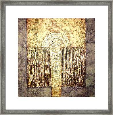 Framed Print featuring the painting Ancient Golden Temple by Bernard Goodman