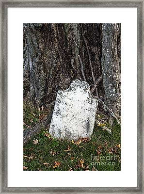Ancient Grave Framed Print by John Greim