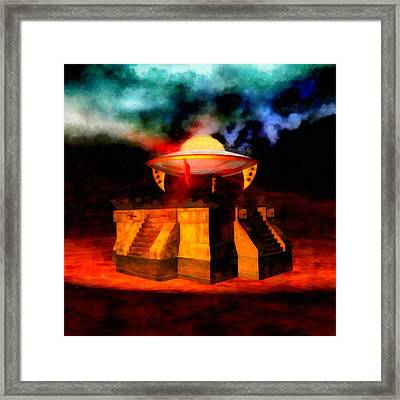 Ancient Invasion Framed Print by Esoterica Art Agency