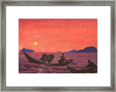 And We Continue Fishing Framed Print