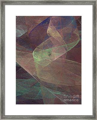Framed Print featuring the digital art Andee Design Abstract 66 2017 by Andee Design