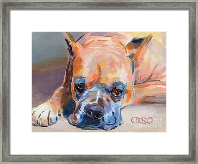 Andre Framed Print by Kimberly Santini