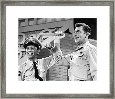 Andy Griffith And Don Knotts - 1970 Framed Print by Mountain Dreams