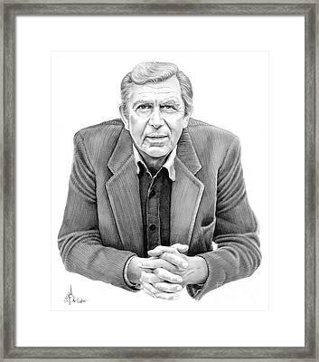 Andy Griffith Framed Print by Murphy Elliott