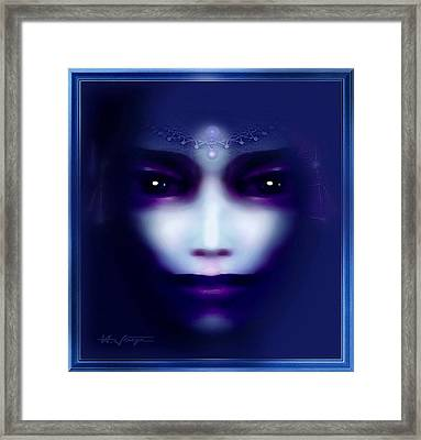 Angel  Blue Framed Print